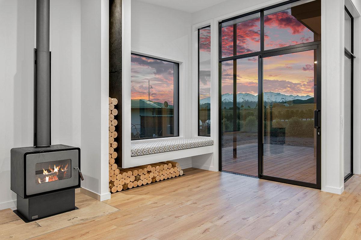 25 Matipo Street Wanaka Fireplace