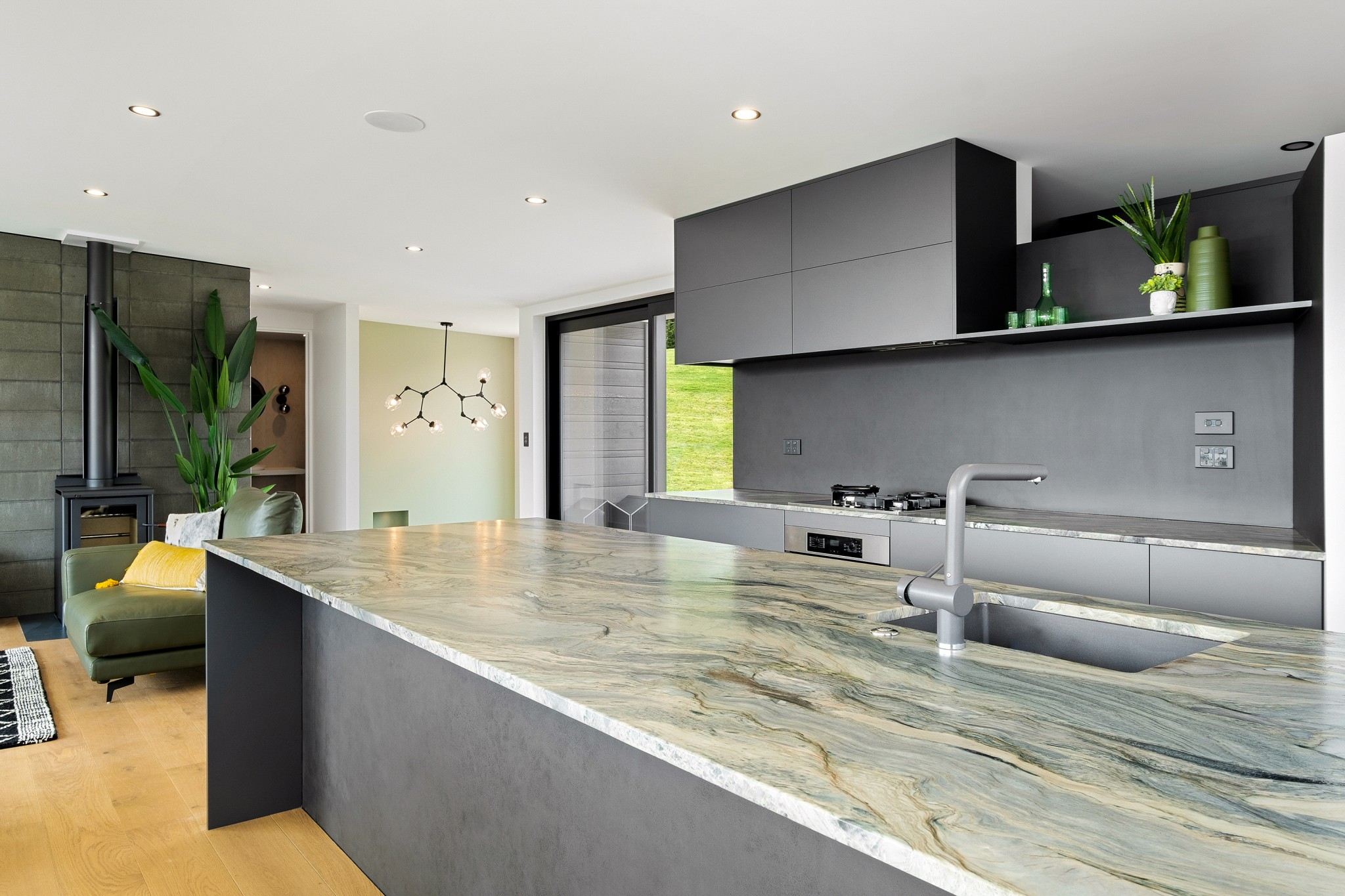 Exquisite benchtop and kitchen at 58 Forest Heights