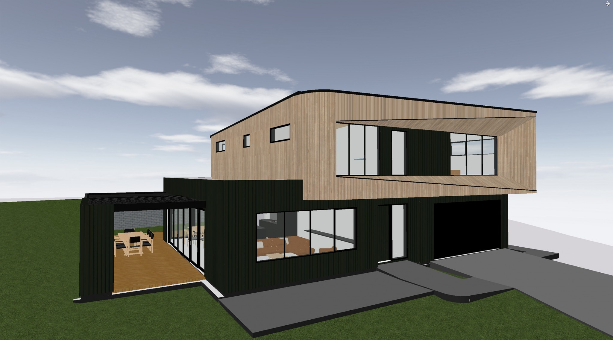 Design and build plan's side view - Plan Beech